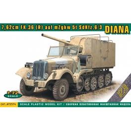 ACE 72574 Semi-chenillé Sd.Kfz.6/3 avec canon de 7,62cm Fk.36(R) Diana