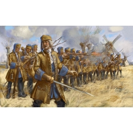Strelets 254 Dismounted French Dragoons in Skirmish - War of the Spanish Succession