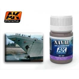 ENAMEL AK 305 Effet coulure bateau coques gris claires
