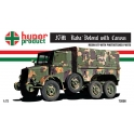 hunor 72056 camion hongrois Raba botonb baché