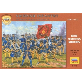 zvezda 8048 Infanterie suédoise 18ème S.