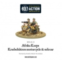 Afrika Korps Kradschutzen motorcycle and sidecar