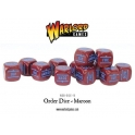 Bolt Action Orders Dice - Maroon (12)