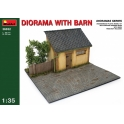 Diorama with Barn in 1:35