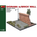 Diorama with Brick Wall