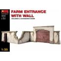 Farm entrance with wall