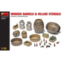 Wooden Barrels & Village Utensils