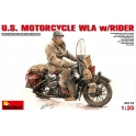 U.S. Motorcycle WLA with Rider