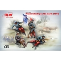 French Infantry on the march(1914) 4Figurines