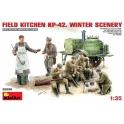 Field kitchen KP-42 winter scenary