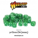 D6 Dice Pack - Green (30)