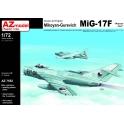 AZ Model 7552 Chasseur soviétique MiG-17F Pacte de Varsovie