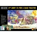 8th Army 25 Pounder Light Artillery, Quad & Limber