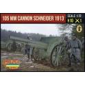 Strelets A015 Canon de 105mm Schneider Modèle 1913 avec servants français 1ère GM