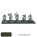 Halfling Goat Riders with Spears