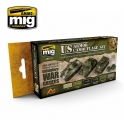 AMIG 7119 Set de peinture Véhicules blindés américains 2nde Guerre Mondiale