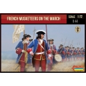 Strelets 233 Mousquetaires français en marche - Guerre de Succession d'Espagne 1701-1714