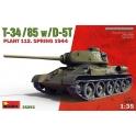 MiniArt 35293 T-34/85 w/D-5T PLANT 112. SPRING
