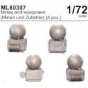 CMK ML80307 Mines maritimes allemandes et supports