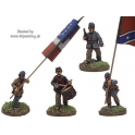 Crusader Miniatures ACW014 ACW Infantry Command in Jacket and Kepi Advancing