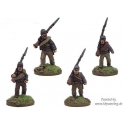 Crusader Miniatures ACW021 ACW Infantry in Shirt and Kepi Marching