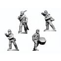 Crusader Miniatures ACW024 ACW Infantry Command in Shirt and Kepi Advancing