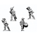 Crusader Miniatures ACW034 ACW Infantry in Shirt and Hat Command Advancing