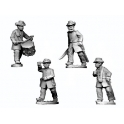 Crusader Miniatures ACW042 ACW Infantry in Frock Coat and Hardee Hat Command Advancing