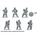 Crusader Miniatures DAS011 Bareheaded Saxon Warriors with Spears