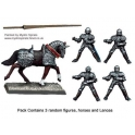 Crusader Miniatures MEW102 Mounted Men-at-Arms with Lances upright