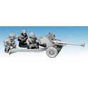 Crusader Miniatures WWB220 British paratrooper 6 Pdr AT Gun & 3 crew