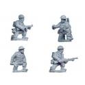 Crusader Miniatures WWB007 British Command and Bren Teams kneeling