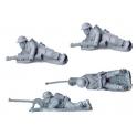 Crusader Miniatures WWB014 British BOYS ATR Teams (4)
