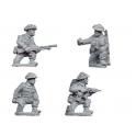 Crusader Miniatures WWB107 Late British Command & Bren Teams kneeling