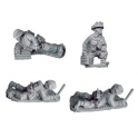 Crusader Miniatures WWB112 Late British 2inch Mortar Teams