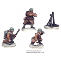 Crusader Miniatures WWF011 French 81mm Mortar (1 Mortar, 3 crew)