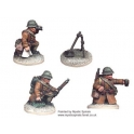 Crusader Miniatures WWF012 French 60mm Mortar & crew (1 mortar, 3 crew)