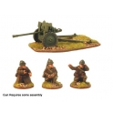 Crusader Miniatures WWF020 French 25mm AT Gun & 3 Crew