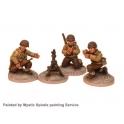 Crusader Miniatures WWU012 US Infantry 60mm Mortar (1 mortar, 3 crew)