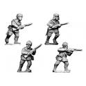 Crusader Miniatures WWR024 Russian Infantry, Winter Uniform in fur hats.