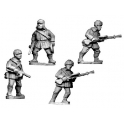 Crusader Miniatures WWR025 Russian LMG Teams, Winter Uniform with fur hats.