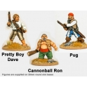 Crusader Miniatures CCP002 Wild Rovers - Pretty Boy Dave, Cannonball Ron, Pug