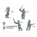 Crusader Miniatures MEH005 Dismounted Knights with Swords