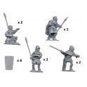Crusader Miniatures MEH007 Spearmen with Pavise