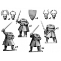 Crusader Miniatures MCF041 Dismounted Teutonic Knights