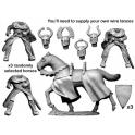 Crusader Miniatures MCF044 Mounted Teutonic Knights. Lance Charging.