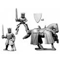 Crusader Miniatures MCF019 King/ Prince. Foot and Mounted.