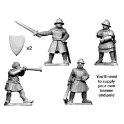 Crusader Miniatures MCF033 Medieval Command Group