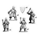 Crusader Miniatures MCF001 Dismounted knights with axes & maces