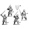 Crusader Miniatures MCF002 Dismounted knights with swords